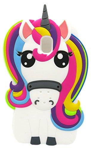 Fundas Samsung J3 2017 Silicona Unicornio, Carcasas Samsung J3 2017 Silicona Unicornio, Funda de Silicona Animales Suave Unicornio 3D para Fundas Samsung Galaxy J3 2017 J330 Carcasas Dibujos Animados