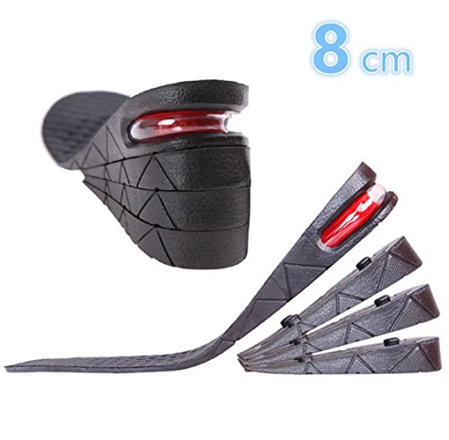 Kalevel Height Increase Insoles 8cm 3.2 Inches Height Increasing Insoles Shoe Lifts for Men Women