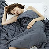 Weighted Idea Cooling Weighted Blanket Queen Size 15 Pounds for Adults...
