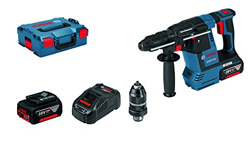 Bosch Professional Akku-Bohrhammer GBH 18 V-26 F (2 x 5,0 Ah Akku, Schnellladegerät GAL 1880 CV, Schlagenergie: 2,6 J, 18 Volt System)