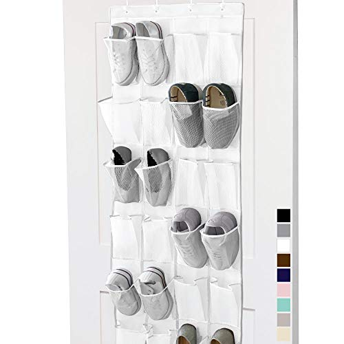 Gorilla Grip Premium Over The Door Mesh Pocket Shoe Organizer, 24...