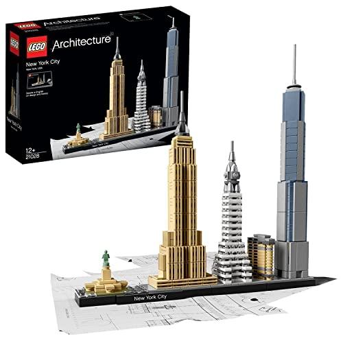 LEGO 21028 Architecture New York City, Skyline-Kollektion mit Freiheisstatue, Bausteine für Kinder...