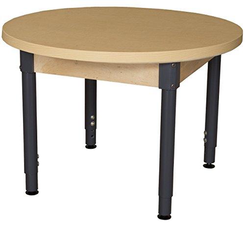Wood Designs HPL36RNDA1829 - Mesa redonda laminada de alta presión con patas ajustables de 45,72 a 73,66 cm
