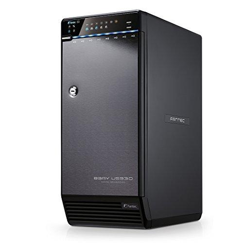 FANTEC QB-X8US3R Caja para disco duro SATA I / II / III de 8 x 8,89 cm (3,5 pulgadas), USB 3.0, eSATA, RAID 0/5/10/50 / BIG, 2 ventiladores con sensor térmico, XP / Vista / 7 /8/8.1/10, Mac OS, Linux, Nero