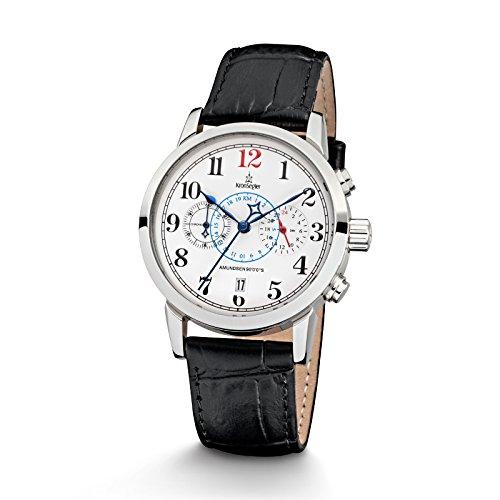 Kronsegler Amundsen 90°0'0''S Damen Chronograph & Telemeter Stahl-Weiss/schwarz
