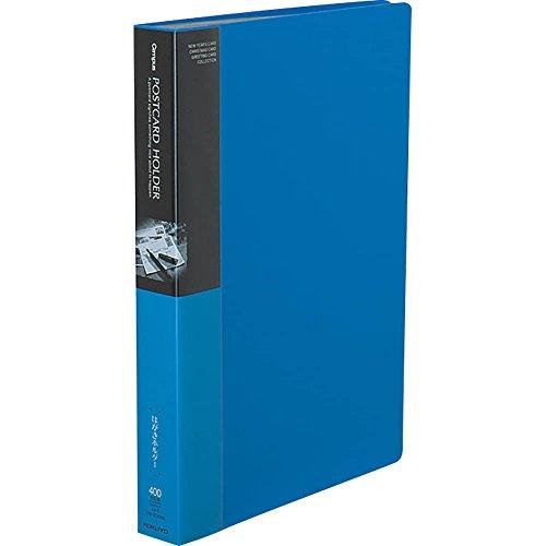 コクヨ ファイル ポストカードホルダー 固定式 A4 50ポケット 最大400枚収容 青 ハセ-230NB