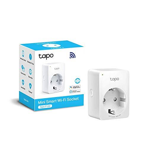 TP-Link TAPO P100 - Mini Enchufe Inteligente Wi-Fi, óptimo para...