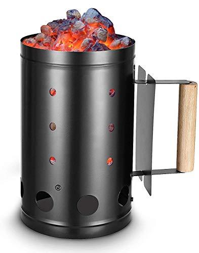 DAWN TO DUSK Charcoal Chimney Starter BBQ Grill Quick Start Lighter Burner Charcoal Starters...