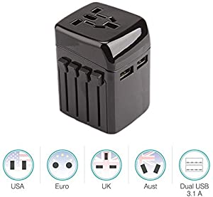 Universal Travel Adapter: This Travel Power Adapter covers over 150 countries with US/EU/UK/AU plugs and Powerful 4 USB Ports. It is universal in the China, Australia, New Zealand, Argentina, USA,Canada, Japan, Brazil,Philippines,Thailand,UK, Hong Ko...