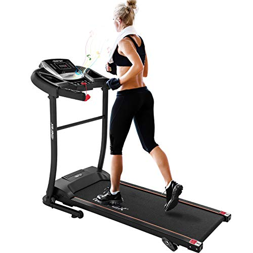 Merax Electric Folding Treadmill – Easy Assembly Fitness Motorized Running Jogging Machine with Speakers for Home...