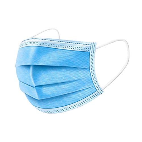 100 PCS Disposable Face Masks Blue