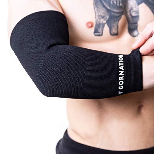 Ellenbogen Support Unterstützung Socke gegen Schmerzen für Calisthenics, Street Workout und Fitness, Schwarz, S
