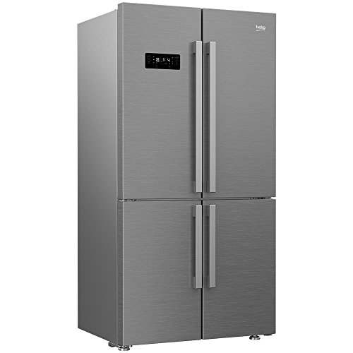 Beko GN1416232ZX Freestanding 541L A++ Stainless steel side-by-side refrigerator - Side-By-Side Fridge-Freezers (Freestanding, Stainless steel, American door, LED, LED, R600a)