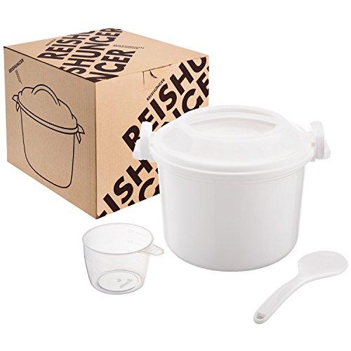 Reishunger arrocera microondas, de 1,2 l para 4 personas, también sirve para quinoa, cuscús y patatas, Cocedor de arroz de microondas sin BPA