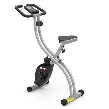 Vélo d'exercice pliable ATIVAFIT 8 niveaux de résistance F-Vélo avec capteur de fréquence cardiaque + support de téléphone