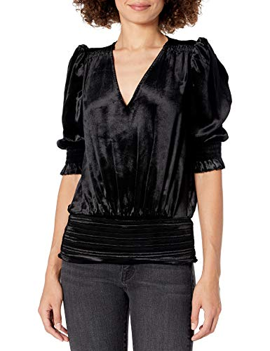 419vrd6thgL. SL500 Short sleeve Puff shoulder V-neck