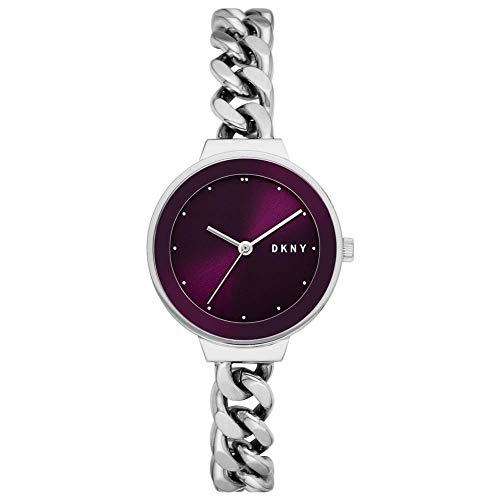 DKNY Damen-Uhren Analog Quarz One Size Silber Edelstahl 32010657