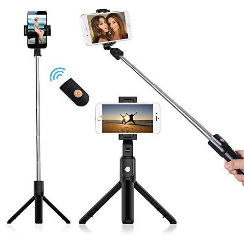 doosl Perche Selfie Bluetooth, Selfie Stick Trépied Monopode avec...