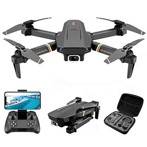 BAHER V4 RC Drone - 4K 1080P HD Dual Camera WiFi Pieghevole Quadcopter con La Wide Angle FPV Video dal Vivo Super Stabile/App di Controllo/Altitudine Hold/Trasmissione in Tempo Reale