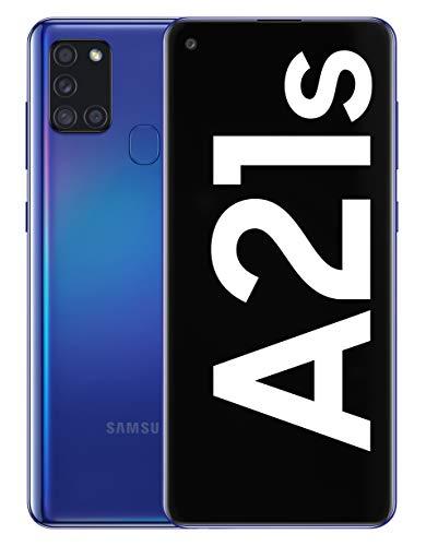 """Samsung Galaxy A21s - Smartphone de 6.5"""" (4 GB RAM, 64 GB de Memoria Interna, WiFi, Procesador Octa Core, Cámara Principal de 48 MP, Android 10.0) Azul [Versión española]"""
