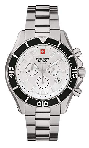 Swiss Alpine Military Herren Uhr Chronograph Analog Quarz 7040.9132SAM Edelstahl
