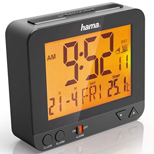Hama RC 550 Wekkerradio   Compact ontwerp   Ideaal voor op reis   Tijdweergave, klok/kalender/alarmfunctie   Snoozefunctie   Inclusief batterijen
