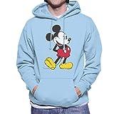 Disney Mickey Mouse Paws Behind Back Men's Hooded Sweatshirt