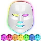 Masque Led Visage Luminotherapie 7 Couleur Facial Rides Acné Retrait Visage Rajeunissement de La...