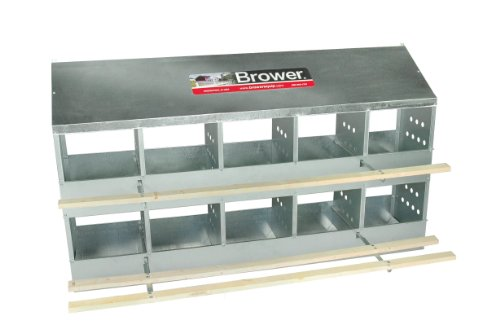 Brower 410B 10-Hole Poultry Nest