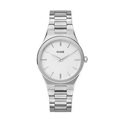 CLUSE Women's Quartz Watch with Stainless Steel Strap, Silver, 18 (Model: CW0101210003)