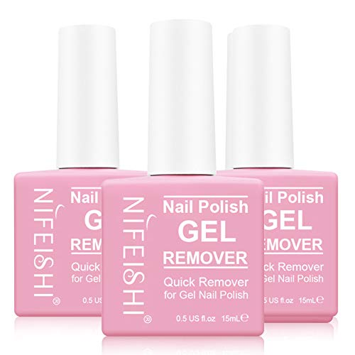 Magic Nail Polish Remover, (3PCS) Gel Nail Polish Remover, Professional Removes Soak-Off Gel Nail Polish and UV Art Nail Lacquer, Don't Hurt Your Nails - 15Ml