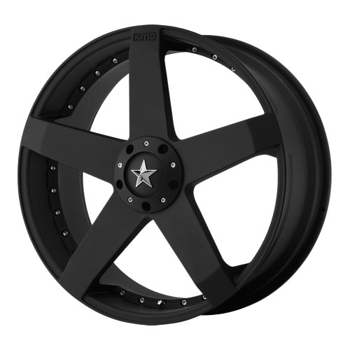 KMX Wheels Rockstar Car KM7757 Matte Black Finish Wheel (18x8'/5x108mm)