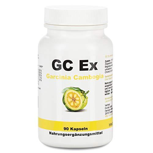 GC Ex, 1500 mg Garcinia Cambogia Extrakt, 90 Kapseln in Premiumqualität, hochdosiert, 100% natürlich 1er Pack (1x 77g)