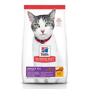 Hill's Science Diet Dry Cat Food, Adult 11+ for Senior Cats, Chicken Recipe