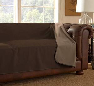 Mambe 100% Waterproof Furniture Cover for Pets and People (Sofa 70'x 120', Chocolate-Cappuccino)