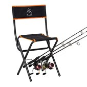 WILD REPUBLIC Fishing Chairs Folding with Rod Holder | Folding Portable Chair | Fishing Stool | Fishing Chair with Rod Holder | Folding Chairs for Outside | Travel Camping Chair | Sports Chair