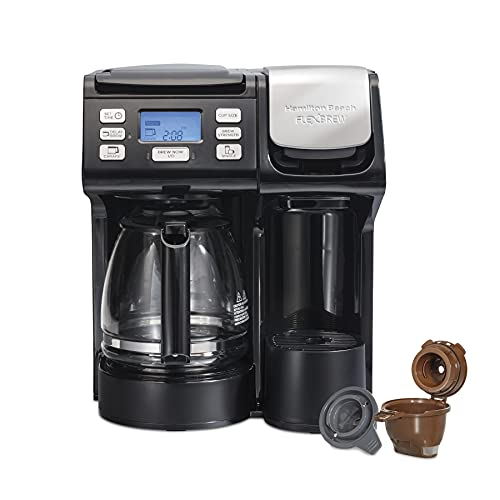 Hamilton Beach 49902 FlexBrew Trio 2-Way Single Serve Coffee...