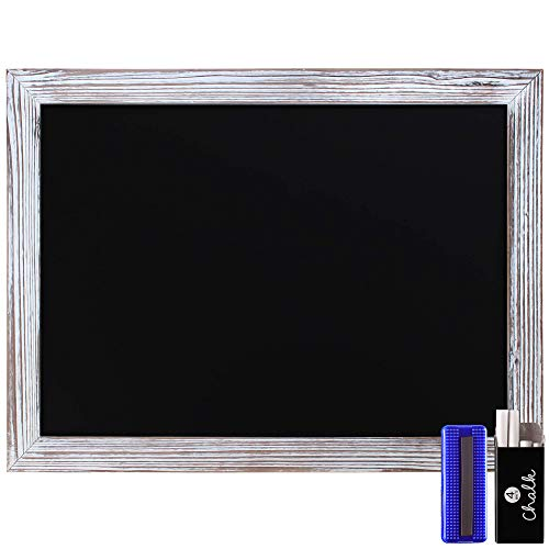Rustic Whitewashed Magnetic Wall Chalkboard, Large Size 18' x...