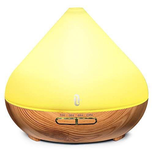 TaoTronics Diffusore di Aromi Ultrasuoni 300ML Vaporizzatore 7 Colori LED per Oli Essenziali,...
