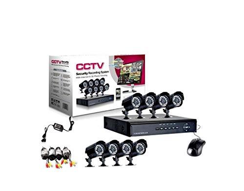 allarmshop Video VIGILANCIA Kit h264 CCTV 8 CANALES INFRARROJOS DVR 8 CANALES - 8 FUENTES DE ALIMENTACION - 8 EXTENSIONES - Disco Duro 1 TB