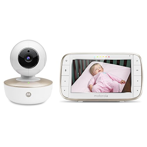 Motorola MBP855CONNECT Portable 5-Inch Color Screen Video Baby Monitor with Wi-Fi and One Camera, White