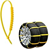 Jeremywell 10 PCS Emergency Anti-Skid Mud Snow Survival Traction Multi-Function Car Tire Chains Security Chains for Car Truck SUV Emergency Winter Driving Universal Tire Cable Belts