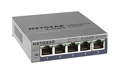 Netgear GS105Ev2 Smart Managed Plus Switch, 5...