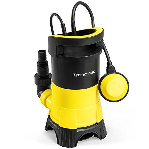TROTEC Schmutzwasser-Tauchpumpe TWP 4025 E IPX8 Schutzart Trockenlaufschutz Schwimmbecken Kellerräume Gartenteich
