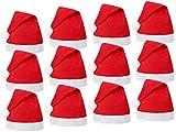 Bonnet de Père Noel mere Noël qualité Alsino (wm-32) :12 pièces