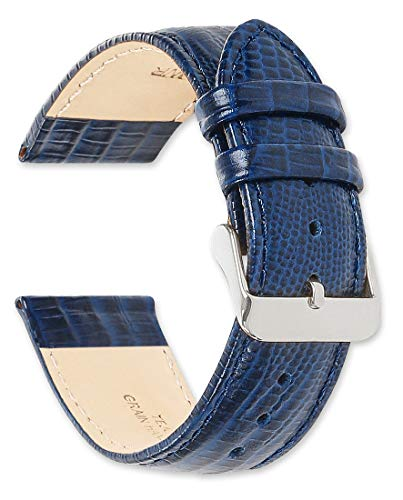 deBeer Leather Watch Strap - Teju Lizard Grain - Navy 20mm Watch Band