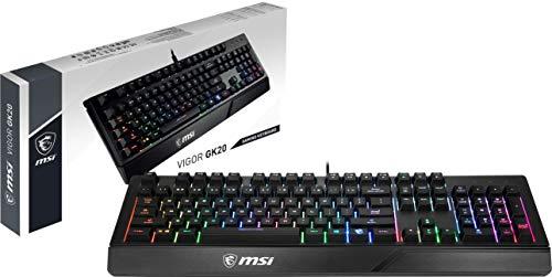 MSI Vigor GK20 DE - Teclado para Juegos (QWERTZ)