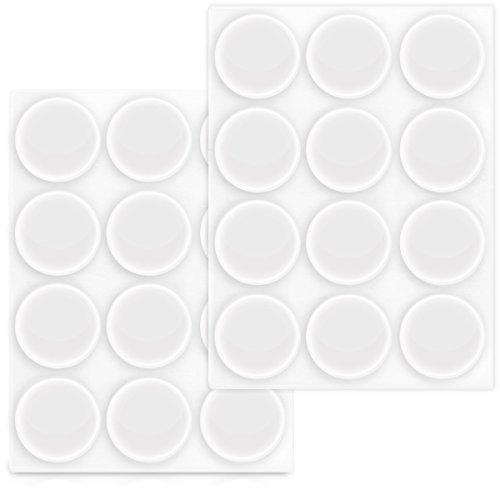Navaris Elastikpuffer transparent 24x Anschlagpuffer - Selbstklebende Puffer für Wand Schrank Glasplatte Ø 22mm - Türstopper Schutzpuffer