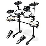 LyxJam 7-Piece Electronic Drum Kit, Professional Drum Set with Real Mesh Fabric, 209 Preloaded Sounds, 50 Play-Along Songs, Recording Capability, Cymbals & Kick Pedal, Drum Sticks And Key Included