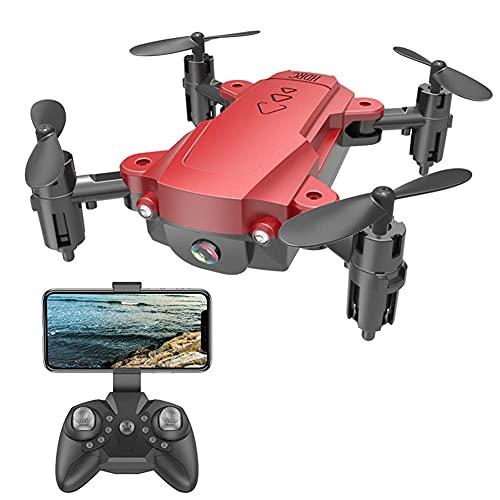 JJDSN Mini Drone 4DRC per Bambini e Principianti, Quadricottero Nano Tascabile Pieghevole RC con Auto Hovering, modalit Headless, 3D Flip, One Key Return, Rosso
